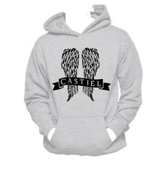 Castiel, Supernatural Unisex Hooded Sweatshirt,Supernatural Hoodie,Angel,Nerd Girl Tees, Geek Chic Shirt Gifts Typography, graphic tee