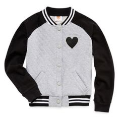 Total Girl® Quilted Varsity Jacket - Girls 7-16 and Plus  found at @JCPenney