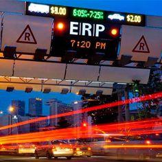 Eletronic Road Pricing (ERP) é a inovação que o Governo de Singapura, aliado à Mitsubishi, implementou para reduzir os congestionamentos na cidade. #mobilidade #tecnologia
