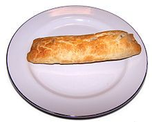 Bedfordshire Clanger - meat at one end, sweet at the other. My Grandad used to talk about taking these to work for lunch.