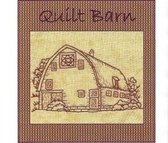 redwork hand patterns | ... Barns Square on Point Block Redwork by WellingtonHouseDesig, $2.50