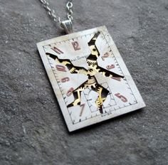 Watch Dial Pendant Cleft Reconstructed Watch by amechanicalmind, $45.00