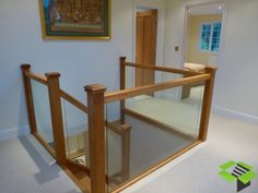 Oak and Embedded Glass
