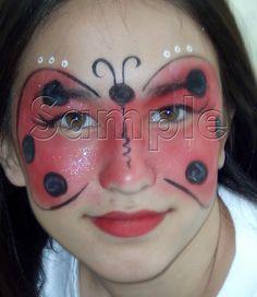 lady bug face painting ideas for Savannah's lady bug Halloween costume.