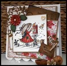 wild+rose+studio+cards | Vixx Handmade Cards: WILD ROSE STUDIO DT CARD ~ POSTING LETTERS... Fall Cards, Winter Cards, Xmas Cards, Greeting Cards, Very Merry Christmas, All Things Christmas, Handmade Christmas, Christmas Crafts, Crafts To Do