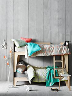 - Day Bed Linen & Homewares - AURA Home by Tracie Ellis stylish bedlinen, homewares and rugs that look fabulous in any home. Cool Bunk Beds, Kid Beds, Kids Bed Linen, Shared Rooms, Kids Decor, Boy Decor, Kids Furniture, Furniture Dolly, Kids Bedroom