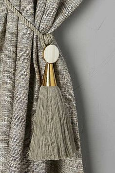 Don't overlook essential home hardware when decorating your home. Shop our carefully curated hardware selection at Anthropologie for fashionable finds. Curtain Styles, Curtain Designs, Curtain Tie Backs, Curtain Fabric, Curtain Texture, Classic Decor, Rideaux Design, Decoration Evenementielle, Curtain Hardware