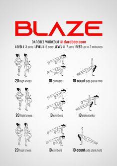 DAREBEE Workouts Easy At Home Workouts, Cardio Workout At Home, Abs Workout Routines, Boxing Workout, Fun Workouts, Calisthenics Leg Workout, Aerobics Workout, Body For Life Workout, Knee Exercises