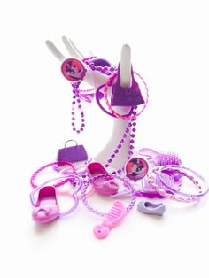 """PURPLE Findings Lot: 30 pieces of """"Girly-Girl"""" Toys; Plastic Bracelets, Tiny Shoes, Hairbrushes, more!  Unique craft supplies; S20 by PaperAndRagVintage on Etsy https://www.etsy.com/listing/270364191/purple-findings-lot-30-pieces-of-girly"""