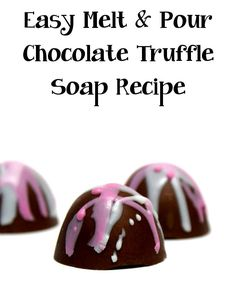 Need unique DIY Christmas gift ideas? This easy melt and pour homemade chocolate truffle soap recipe is sure to delight!