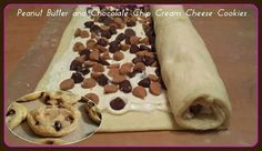 Peanut Butter and Chocolate Chip Cream Cheese Cookies What a great looking treat!!