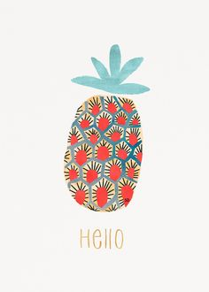 illustration art ~ Sophie Dufresne ~ More - art Photocollage, Arte Floral, Art And Illustration, Pineapple Illustration, Illustrators, Iphone Wallpaper, Print Patterns, Artsy, Art Prints