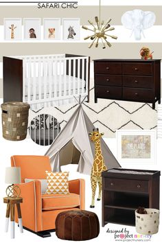 Safari Chic Nursery Design Board - Project Nusery