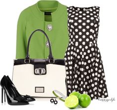 """""""Black, White, & Lime"""" by happygirljlc on Polyvore"""