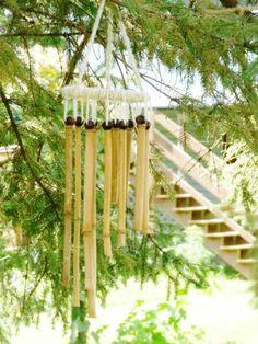 Artesanato decorativo de bambu é lindo, e mesmo rústico decora com muito charme (Foto: bopeepsbonnets.com)