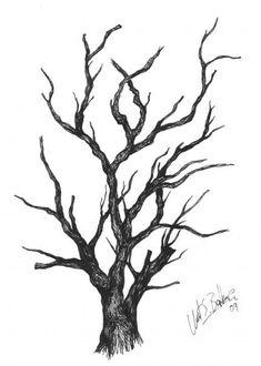 Mürekkep Düşümü Varlığın Deseni: Ink on paper - _ Umut Saim Balkır Abstract Tree Painting, Watercolor Trees, Tree Drawings Pencil, Art Drawings, Black And White Tree, Tree Sketches, Tree Tattoo Designs, Illusion Art, Pen Art