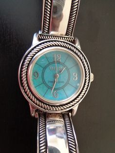 Vintage Pearls, Vintage Jewelry, Vintage Watches Women, Wearable Device, Vintage Signs, Black Leather, Sterling Silver, Blue, Accessories