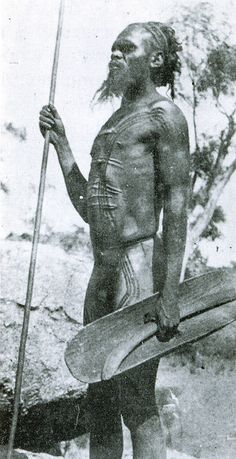 An Aboriginal man hunting in the Fraser Range, Western Australia, late in the nineteenth century.