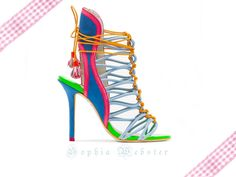Sophia Webster Lacey Blue Sandal