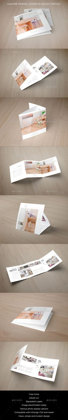 Square Trifold Brochure 2 Brochure template, Brochures and Squares - interior design brochure template