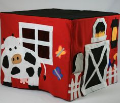 my first barn card table fort by simplypretend on Etsy Sewing Patterns For Kids, Sewing For Kids, Diy For Kids, Card Table Playhouse, Craft Projects, Sewing Projects, Table Tents, Kids Tents, Sewing Cards