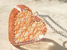 Thread in a resin heart ( #Resin )