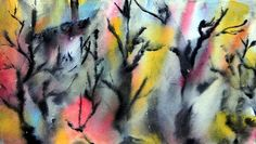 twisted trees series  watercolors on paper by Katina Cote  self taught artist in Maine   copyright