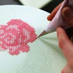 Cross Stitch Cake Decorating - would be nice for a wedding cake cake cheesecake cake cupcakes cake decoration cake fancy dessert cake Cake Decorating Designs, Creative Cake Decorating, Cake Decorating Techniques, Creative Cakes, Cake Designs, Cookie Decorating, Stitch Cake, Decoration Patisserie, Dessert Decoration