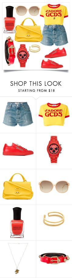 """My Own Style..**"" by yagna ❤ liked on Polyvore featuring RE/DONE, GCDS, Philipp Plein, Toy Watch, Zanellato, Linda Farrow, Deborah Lippmann, Maya Magal, Philippa Holland and Philosophy di Lorenzo Serafini"
