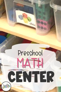 The Math Center in a preschool classroom is a place for children to explore and practice pre-k math skills.. See what is inside my Math Center. Preschool Centers, Preschool Classroom, Math Centers, Play Based Learning, Learning Centers, Classroom Organization, Organization Ideas, Center Labels, Create Picture