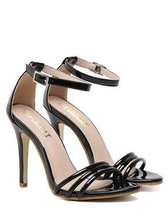 Zaful - Zaful Strappy Patent Leather Sandals - AdoreWe.com