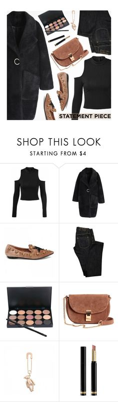 """""""Go Bold: Statement Coats"""" by beebeely-look ❤ liked on Polyvore featuring Chicwish, Dsquared2, Golden Bear, Gucci, StreetStyle, casual, fauxfur, rosegal and statementcoats"""