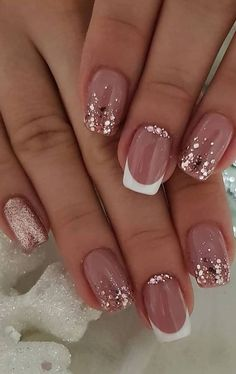 nail art designs with glitter & nail art designs ; nail art designs for spring ; nail art designs for winter ; nail art designs with glitter ; nail art designs with rhinestones Pretty Nail Art, Beautiful Nail Art, Gorgeous Nails, Pretty Gel Nails, Classy Nail Art, Beautiful Nail Designs, Perfect Nails, Beautiful Pictures, Nail Design Glitter