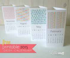 Fun calendar concept - free printable 2015 calendars