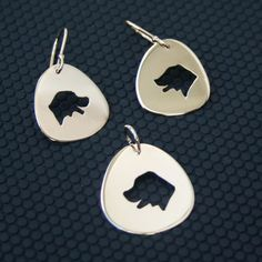 Labrador Smiling in 14k Yellow Gold Earrings and Charm by HarvestGoldJewelry Handmade in Maine