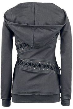 Trendy Hooded Long Sleeve Lace-Up Solid Color Hoodie For Women