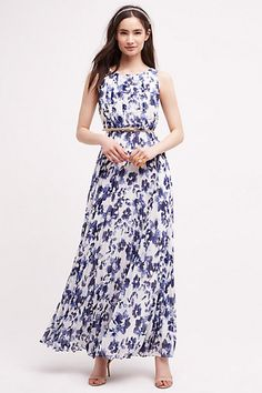 Chatoyer Maxi Dress - blue floral #anthropologie