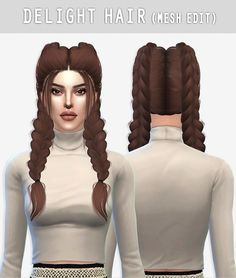 Arthurlumierecc: Delight hair retextured for Sims 4