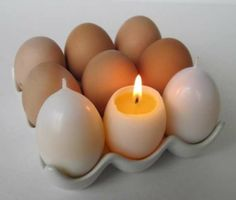 Fool the eyes of your brunch guests with the Magic Egg Yolk Candles by Kittredge Candles. Designed to realistically resemble a simple and ordinary white egg, these produce-inspired candles will surely spark some brunch time conversation.