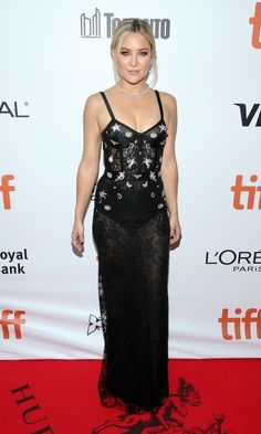 Kate Hudson added some extra sparkle and shine to her Alexander McQueen dress with the help of Tiffany and Co. jewelry during the premiere of Deepwater Horizon at the Toronto International Film Festival.