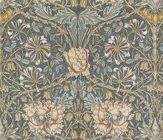 William Morris ~ Honeysuckle fabric by peacoquettedesigns on Spoonflower - custom fabric