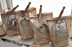 make little gift bags, use clothespins ...
