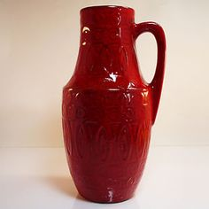 Vintage West German Pottery Vase • Scheurich
