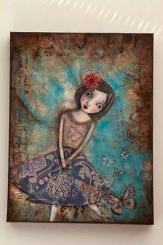 Butterfly Fairy  Mixed Media Original Painting by WendyFairyArt, £99.99
