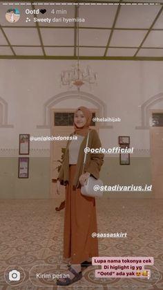 Casual Hijab Outfit, Ootd Hijab, Hijab Chic, Muslim Fashion, Hijab Fashion, Fashion Outfits, Kebaya Dress, Workwear Fashion, Fashion 2020