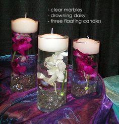 #wedding #centrepiece #floating #candle |
