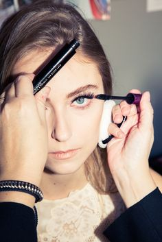 Holiday Beauty How To: Dramatic Lashes http://www.thecoveteur.com/false-eyelashes-holiday-beauty/