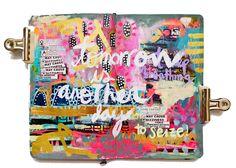 another day to seize - moleskine monday — Journal Girl Art Journal Pages, Art Journals, Junk Journal, Visual Journals, Bullet Journal, Sketchbook Inspiration, Art Journal Inspiration, Art Sketchbook, Journal Ideas