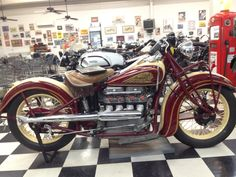 """1933 @indianmotorcycle """"Four"""" #texas #twistedsisters"""