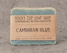 Cambrian Blue Clay Soap from Rocky Top Soap Shop